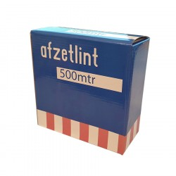 Afzetlint rood/wit 70mm x 500m